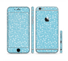 The Blue and White Twig Pattern Sectioned Skin Series for the Apple iPhone 6/6s Plus