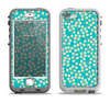 The Blue and Yellow Floral Pattern V43 Apple iPhone 5-5s LifeProof Nuud Case Skin Set