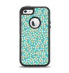 The Blue and Yellow Floral Pattern V43 Apple iPhone 5-5s Otterbox Defender Case Skin Set