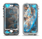 The Blue and Yellow Vivid Fumes Apple iPhone 5-5s LifeProof Nuud Case Skin Set