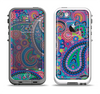 The Bold Colorful Paisley Pattern Apple iPhone 5-5s LifeProof Fre Case Skin Set