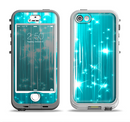 The Bright Blue Glistening Streaks Apple iPhone 5-5s LifeProof Nuud Case Skin Set