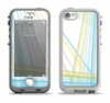 The Bright Blue and Yellow Lines Apple iPhone 5-5s LifeProof Nuud Case Skin Set