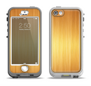 The Bright Brushed Gold Surface Apple iPhone 5-5s LifeProof Nuud Case Skin Set