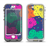 The Bright Colored Cartoon Flowers Apple iPhone 5-5s LifeProof Nuud Case Skin Set