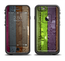 The Bright Colored Peeled Wood Planks Apple iPhone 6/6s LifeProof Fre Case Skin Set