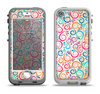 The Bright Colored Vector Spiral Pattern Apple iPhone 5-5s LifeProof Nuud Case Skin Set