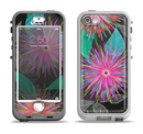 The Bright Colorful Flower Sprouts Apple iPhone 5-5s LifeProof Nuud Case Skin Set