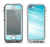 The Bright Diagonal Blue Streaks Apple iPhone 5-5s LifeProof Nuud Case Skin Set