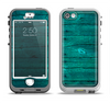 The Bright Emerald Green Wood Planks Apple iPhone 5-5s LifeProof Nuud Case Skin Set