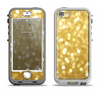 The Bright Golden Unfocused Droplets Apple iPhone 5-5s LifeProof Nuud Case Skin Set