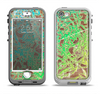 The Bright Green Floral Laced Apple iPhone 5-5s LifeProof Nuud Case Skin Set