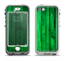 The Bright Green Highlighted Wood Apple iPhone 5-5s LifeProof Nuud Case Skin Set