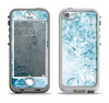 The Bright Light Blue Swirls with Butterflies Apple iPhone 5-5s LifeProof Nuud Case Skin Set