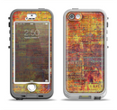 The Bright Orange Torn Posters Apple iPhone 5-5s LifeProof Nuud Case Skin Set