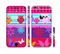 The Bright Pink Cartoon Owls with Flowers and Butterflies Sectioned Skin Series for the Apple iPhone 6/6s Plus