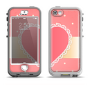 The Bright Pink Heart Lace V3 Apple iPhone 5-5s LifeProof Nuud Case Skin Set
