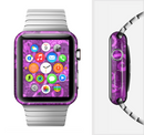 The Bright Pink & Purple Floral Paisley Full-Body Skin Set for the Apple Watch