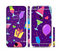 The Bright Purple Party Drinks Sectioned Skin Series for the Apple iPhone 6/6s Plus