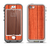 The Bright Red & Black Grained Wood Apple iPhone 5-5s LifeProof Nuud Case Skin Set