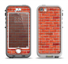The Bright Red Brick Wall Apple iPhone 5-5s LifeProof Nuud Case Skin Set