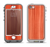 The Bright Red Stained Wood Apple iPhone 5-5s LifeProof Nuud Case Skin Set