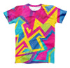 The Bright Retro Color-Shapes ink-Fuzed Unisex All Over Full-Printed Fitted Tee Shirt