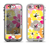 The Bright Summer Brushed Flowers  Apple iPhone 5-5s LifeProof Nuud Case Skin Set