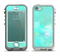 The Bright Teal WaterColor Panel Apple iPhone 5-5s LifeProof Nuud Case Skin Set