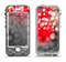 The Bright Unfocused White & Red Love Dots Apple iPhone 5-5s LifeProof Nuud Case Skin Set