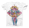 The Bright Watercolor Ethnic Elephant ink-Fuzed Unisex All Over Full-Printed Fitted Tee Shirt