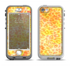 The Bright Yellow and Orange Leopard Print Apple iPhone 5-5s LifeProof Nuud Case Skin Set