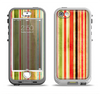 The Brightly Colored Vertical Grungy Stripes Apple iPhone 5-5s LifeProof Nuud Case Skin Set