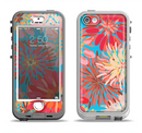The Brightly Colored Watercolor Flowers Apple iPhone 5-5s LifeProof Nuud Case Skin Set