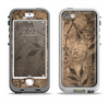 The Brown Aged Floral Pattern Apple iPhone 5-5s LifeProof Nuud Case Skin Set