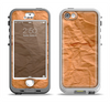 The Brown Crumpled Paper Apple iPhone 5-5s LifeProof Nuud Case Skin Set