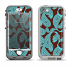 The Brown & Teal Paisley Pattern Apple iPhone 5-5s LifeProof Nuud Case Skin Set