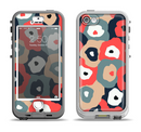 The Bulky Colorful Flowers Apple iPhone 5-5s LifeProof Nuud Case Skin Set