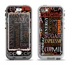 The Cafe Word Cloud Apple iPhone 5-5s LifeProof Nuud Case Skin Set