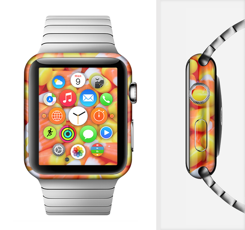 The Candy Corn Full-Body Skin Set for the Apple Watch