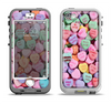 The Candy Worded Hearts Apple iPhone 5-5s LifeProof Nuud Case Skin Set