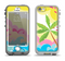 The Cartoon Bright Palm Tree Beach Apple iPhone 5-5s LifeProof Nuud Case Skin Set