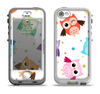 The Cartoon Emotional Owls with Polkadots Apple iPhone 5-5s LifeProof Nuud Case Skin Set