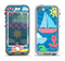 The Cartoon Ships and Submarines Apple iPhone 5-5s LifeProof Nuud Case Skin Set