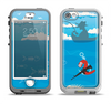 The Cartoon Worm with Machine Gun Irony Apple iPhone 5-5s LifeProof Nuud Case Skin Set