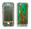 The Chipped Bright Green Wood Apple iPhone 5-5s LifeProof Nuud Case Skin Set