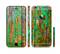 The Chipped Bright Green Wood Sectioned Skin Series for the Apple iPhone 6/6s Plus