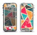 The Chipped Colorful Retro Triangles Apple iPhone 5-5s LifeProof Nuud Case Skin Set