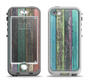 The Chipped Pastel Paint on Wood Apple iPhone 5-5s LifeProof Nuud Case Skin Set
