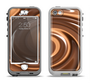 The Chocolate and Carmel Swirl Apple iPhone 5-5s LifeProof Nuud Case Skin Set
